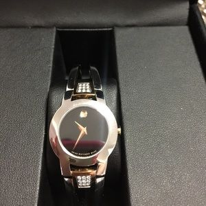 Movado amorosa with diamond accent